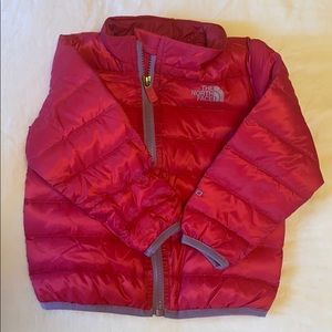 Infant inverse down jacket